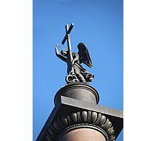 angel with cross  Photographic Print
