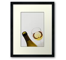 White (and some wine) Framed Print