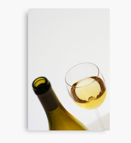 White (and some wine) Canvas Print