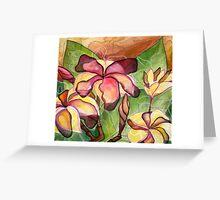 Vivian's Plumeria Greeting Card
