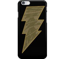 Shazam Black iPhone Case/Skin
