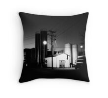 The Bottling Plant Throw Pillow