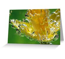 Blown Glass Daffodil Greeting Card