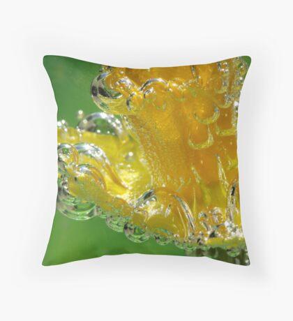 Blown Glass Daffodil Throw Pillow