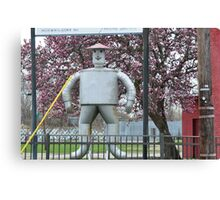 The Tin Man and the Tulip Tree Canvas Print