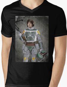 Daryl Fett : Zombie Hunter (Variant A) Mens V-Neck T-Shirt