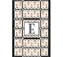 1920s Pink Champagne Gatsby Monogram letter E Photographic Print
