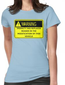Rat Rod Warning Womens Fitted T-Shirt