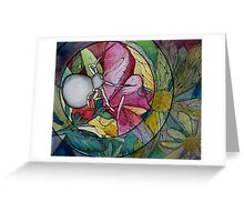 Flower Spider Greeting Card