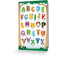 Animal Alphabet Greeting Card