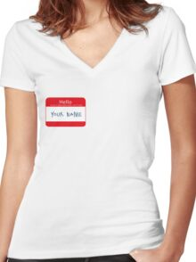 Hello My Name is Blank Space Taylor Swift Women's Fitted V-Neck T-Shirt