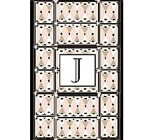 1920s Pink Champagne Gatsby Monogram letter J Photographic Print