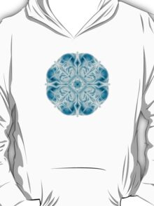 """Spirit of India: Snow-Fleur"" in turquoise and cyan T-Shirt"