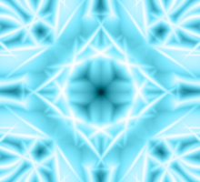 """Spirit of India: Snow-Fleur"" in turquoise and cyan Sticker"