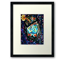 The Unhappy Clown Framed Print
