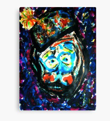 The Unhappy Clown Canvas Print