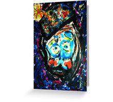 The Unhappy Clown Greeting Card