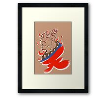 Akuma Paintbrush White Framed Print