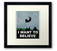 I Want To Believe (Santa) Framed Print