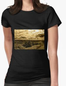 Dymon Mtn New york  Womens Fitted T-Shirt