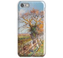 Pietro Barucci (Rome 1845-1917) Trees with a Fence in the Foreground iPhone Case/Skin
