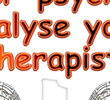 Therapist vs. Therapist Sticker
