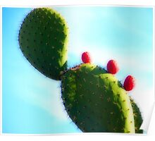 Prickly Red Bubbles Poster