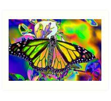 Psychedelic Monarch Art Print