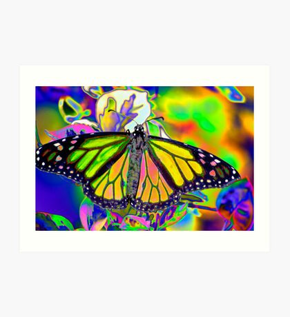 Psychedelic Monarch Art Print