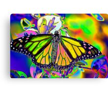 Psychedelic Monarch Canvas Print