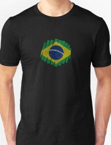 Brazilian Grunge Flag Unisex T-Shirt