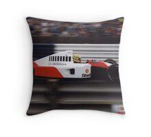 Ayrton Senna - 1991 Formula 1 British Grand Prix Throw Pillow