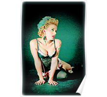 feathered pin up Poster