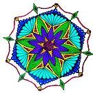 Turquoise and Purple Mandala by WienArtist