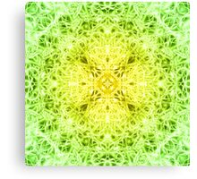 """Spirit of India: Fleur-Web"" in grass green and yellow Canvas Print"