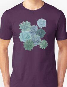 green succulent pattern T-Shirt