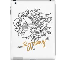 fashion illustration spring girls iPad Case/Skin