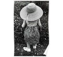 Girl in Hat Poster