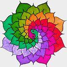 Rainbow Mandala by WienArtist