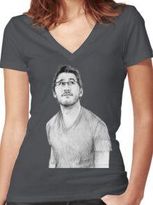 Markiplier Women's Fitted V-Neck T-Shirt
