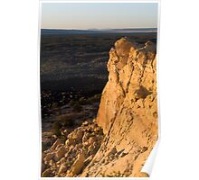 Sandstone Bluff at Eventide, El Malpais National Monument, NM Poster