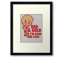 Red and Gold Framed Print
