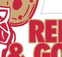 Red and Gold Sticker