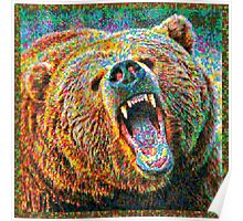 Colorful Bear Poster