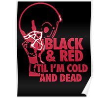 Black and Red Poster