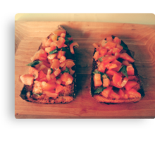 Bruschetta Canvas Print