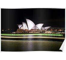 """Sydney Opera House Light Trails"" Poster"