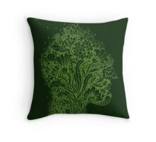 Think Green Profile Throw Pillow