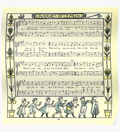 The Baby's Opera - A Book of Old Rhymes With New Dresses - by Walter Crane - 1900-16 Oranges and Lemons Poster
