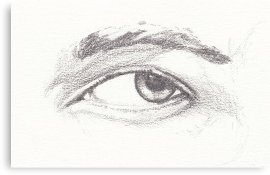 Pencil Study of Left Eye on 200gsm acid-free drawing cartridge by Gibson